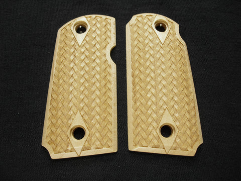 Braided Weave Maple Kimber Micro 9 Grips