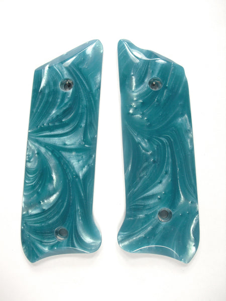 Tiffany Blue Pearl Ruger Mark II/III Grips