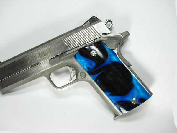 Black & Blue Pearl Coonan Compact .357 Grips
