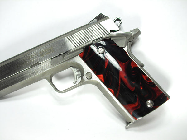 Black & Red Pearl Coonan Compact .357 Grips
