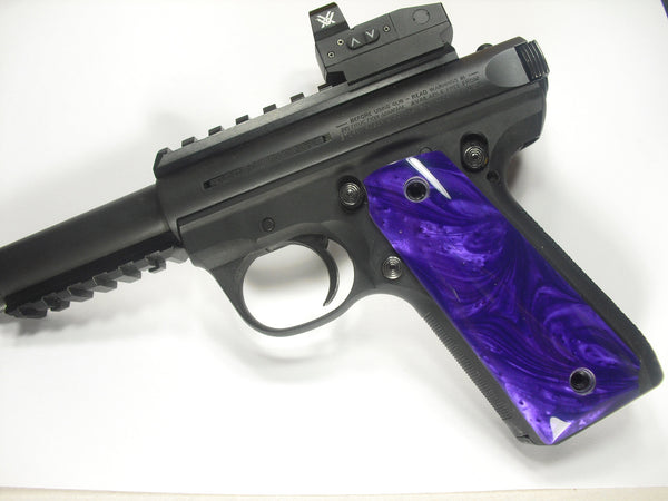 Purple Pearl Ruger Mark III 22/45 Grips