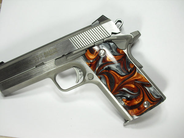 Copper & Silver Pearl Coonan Compact .357 Grips