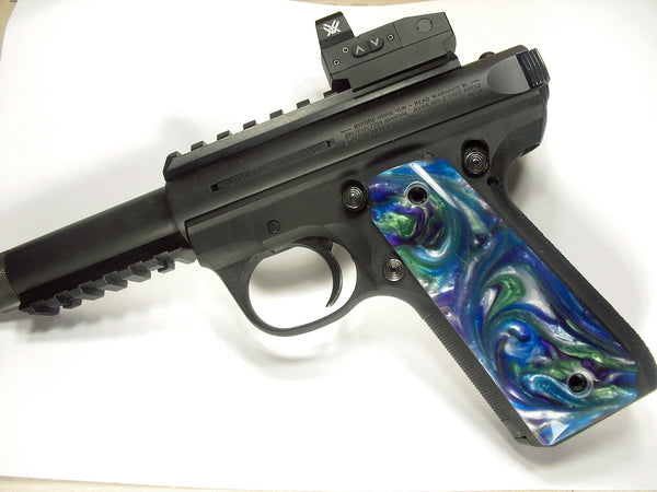 Abalone Pearl Ruger Mark III 22/45 Grips