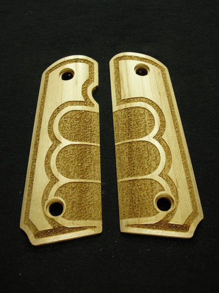 Grip Tape Texture Maple 1911 Grips (Compact)