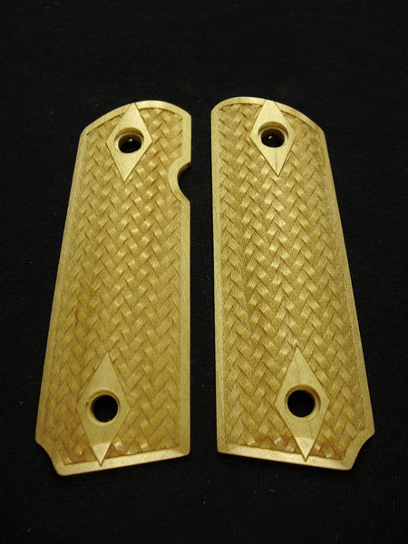 Braided Weave Maple 1911 Grips (Compact)