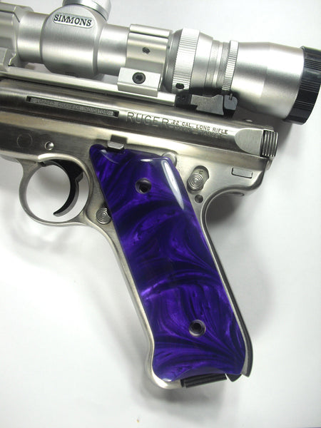 Purple Pearl Ruger Mark II/III Grips