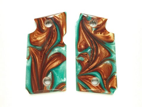 Copper & Turquoise Pearl Sig Sauer P938 Grips