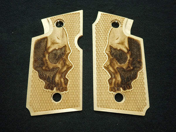 Skull Maple Springfield Armory 911 9mm Grips