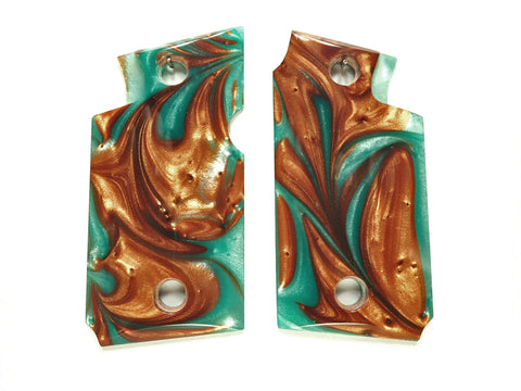 Copper & Turquoise Pearl Springfield Armory 911 9mm Grips