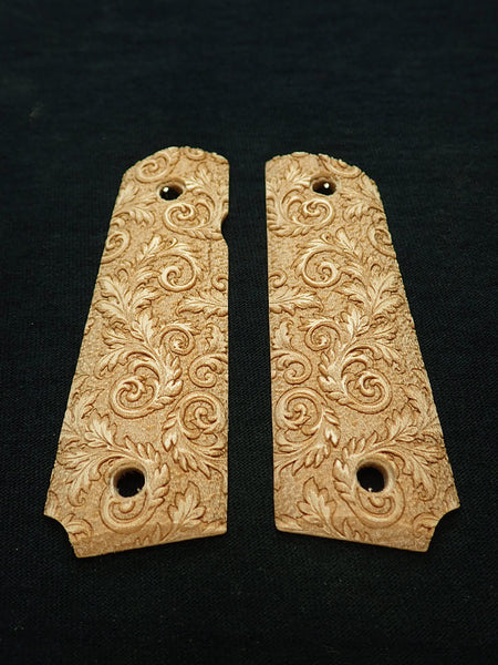 Floral Scroll Maple Browning 1911- 22/380 Grips