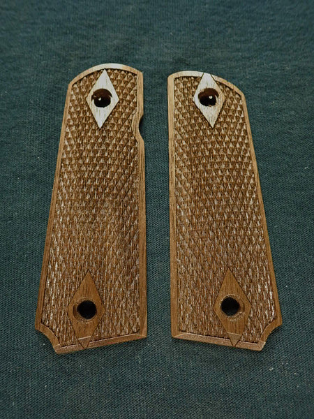 Double Diamond Checkered Walnut Browning 1911- 22/380 Grips