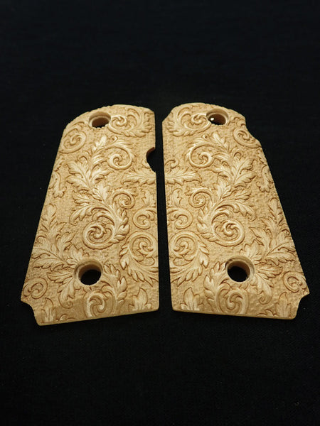 Floral Scroll Maple Kimber Micro 9 Grips