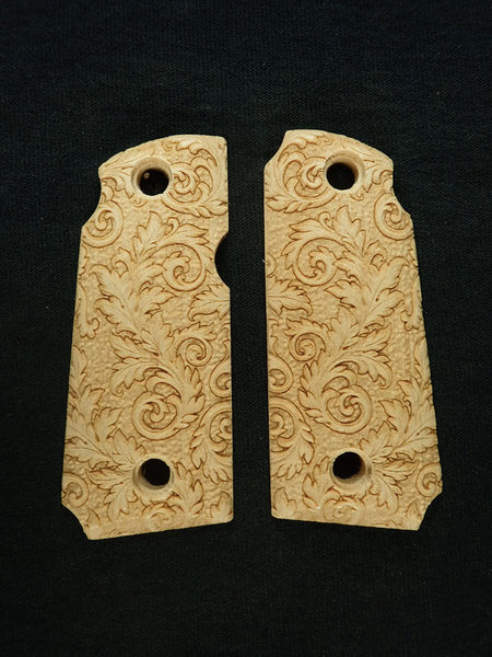 Floral Scroll Maple Kimber Micro 380 Grips