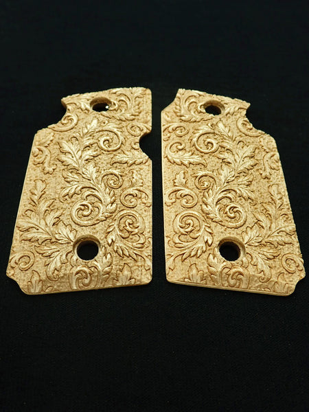 Floral Scroll Maple Sig Sauer P938 Grips