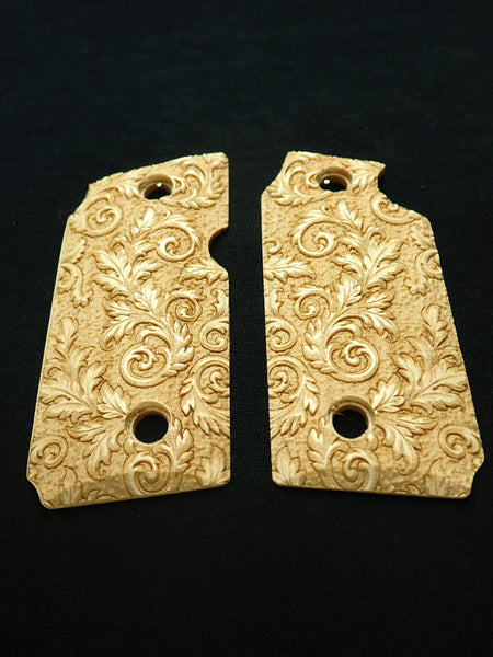Floral Scroll Maple Sig Sauer P238 Grips