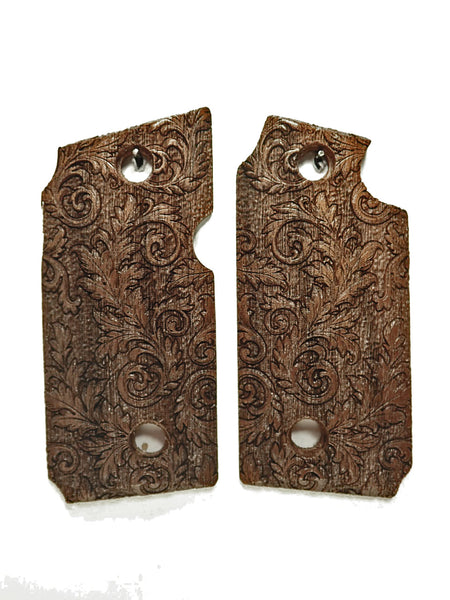 Floral Scroll Walnut Sig Sauer P238 Grips