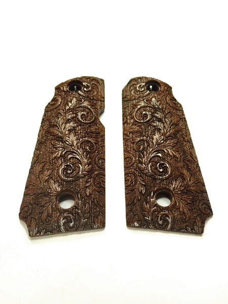 Floral Scroll Walnut Kimber Micro 380 Grips