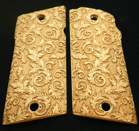 Maple Floral Scroll Compact Coonan .357 Grips