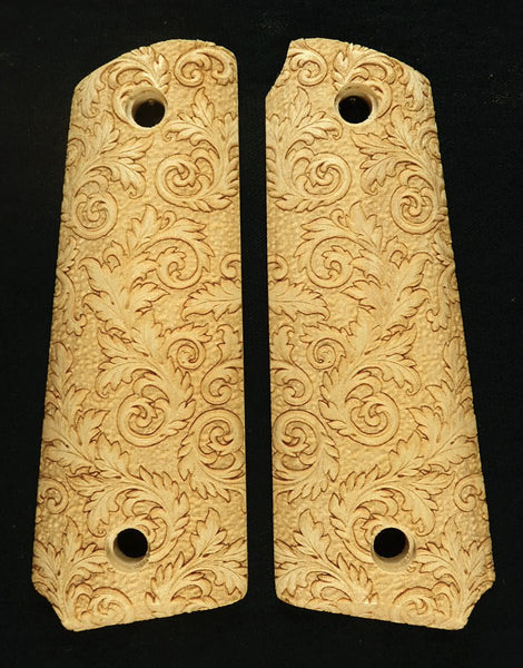 Maple Floral Scroll Ruger Mark III 22/45 Grips