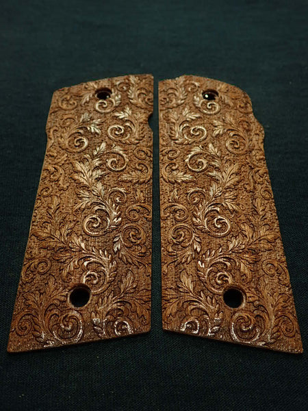 Walnut Floral Scroll Coonan .357 Grips