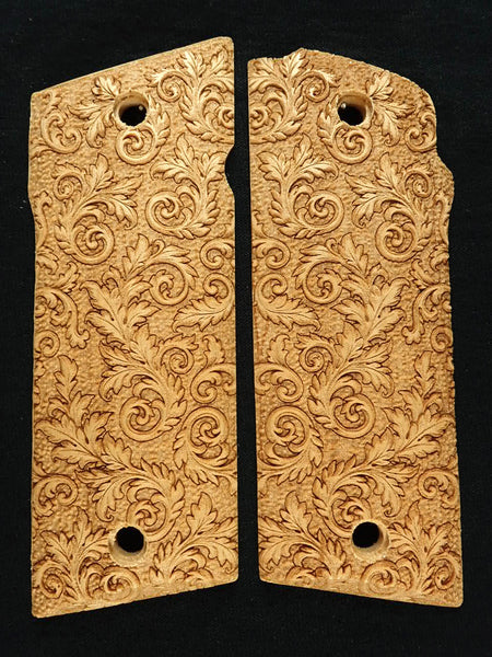 Maple Floral Scroll Coonan .357 Grips