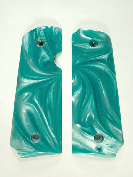 Tiffany Blue Pearl Rock Island 380 1911 Grips