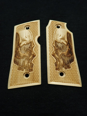 Skull Maple Colt Mustang Pocketlite Grips