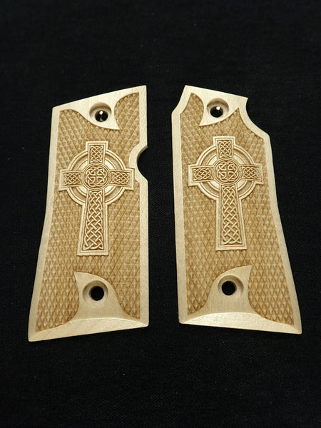 Celtic Cross Maple Colt Mustang Pocketlite Grips