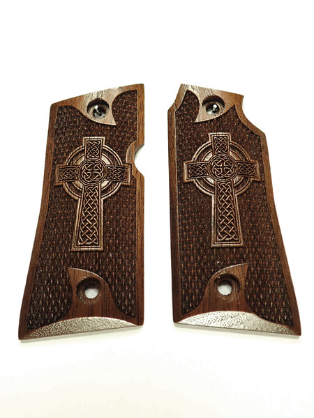 Celtic Cross Walnut Colt Mustang Pocketlite Grips