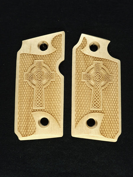 Celtic Cross Maple Sig Sauer P238 Grips