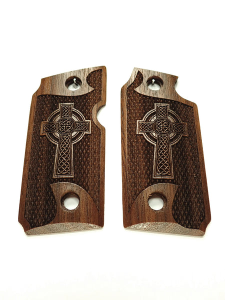 Celtic Cross Walnut Sig Sauer P238 Grips