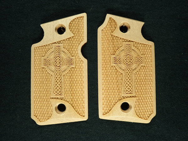 Celtic Cross Maple Sig Sauer P938 Grips