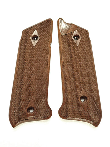 Double Diamond Walnut Ruger Mark IV Grips Checkered Engraved Textured
