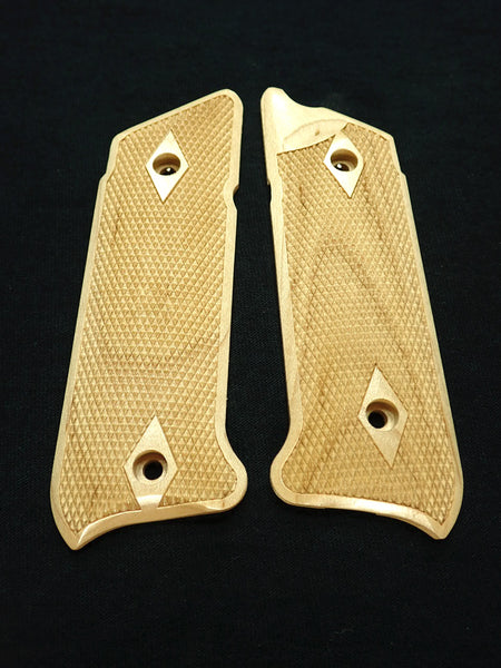 Double Diamond Maple Ruger Mark IV Grips Checkered Engraved Textured