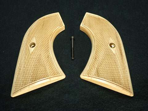 Checker Maple Ruger New Vaquero Grips Checkered Engraved Textured