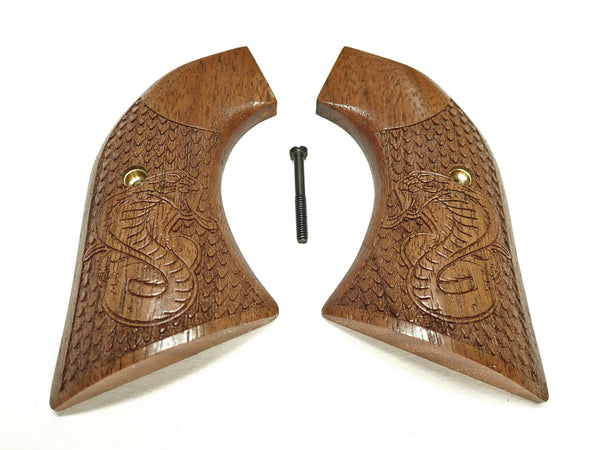 Cobra Engraved Walnut Ruger Vaquero/Blackhawk Grips Textured