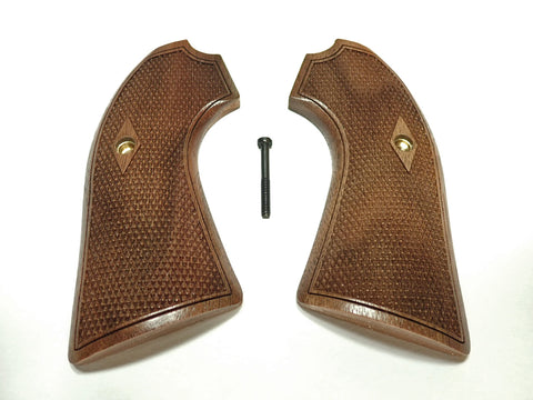 Checker Walnut Ruger Vaquero Bisley Grips Checkered Engraved Textured