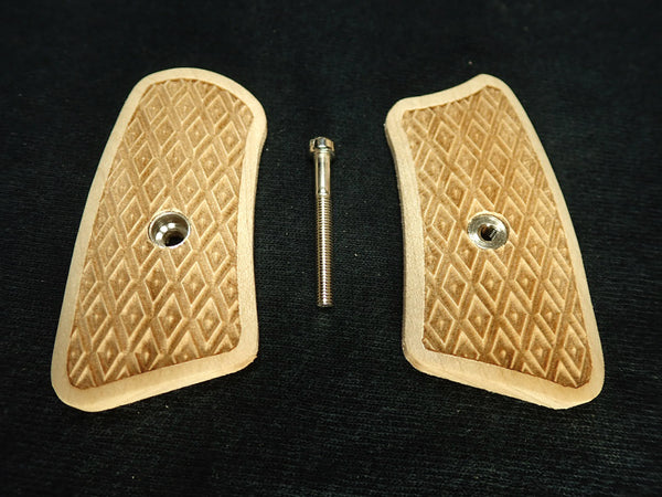Inverted Diamond Checker Maple Ruger Sp101 Grip Inserts