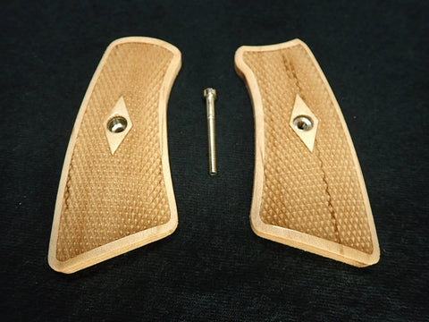 Diamond Checker Maple Ruger Gp100 Grip Inserts