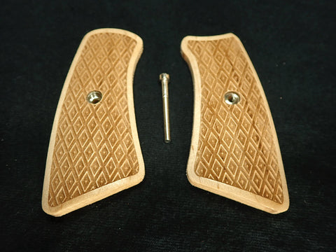 Inverted Diamond Checker Maple Ruger Gp100 Grip Inserts