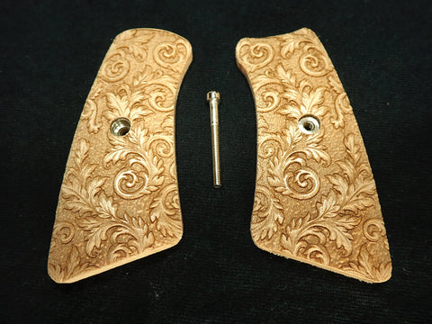 Floral Scroll Maple Ruger Gp100 Grip Inserts