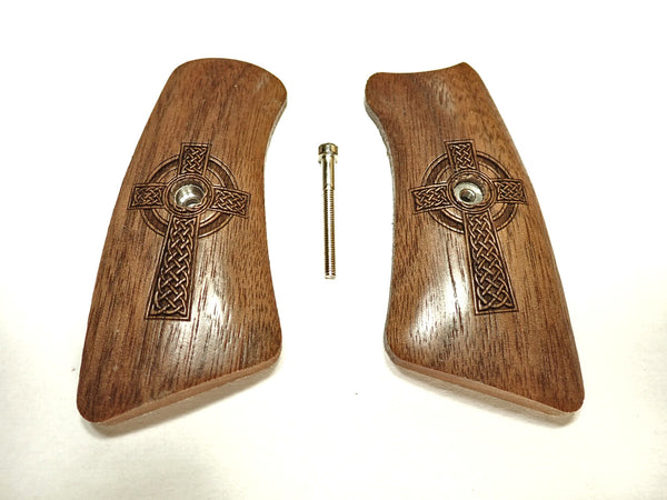 Celtic Cross Walnut Ruger Gp100 Grip Inserts