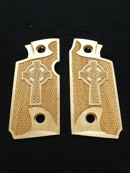 Celtic Cross Maple Springfield Armory 911 .380 Grips