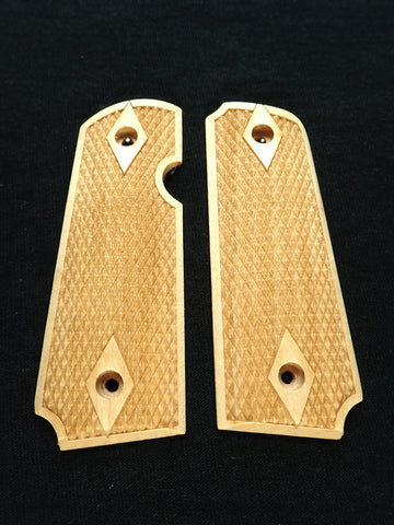 Double Diamond Maple Rock Island 380 1911 Grips