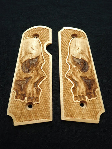 Skull Maple Rock Island 380 1911 Grips