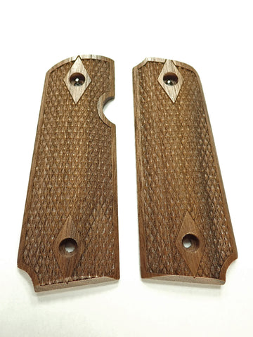 Double Diamond Walnut Rock Island 380 1911 Grips