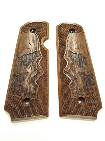 Skull Walnut Rock Island 380 1911 Grips