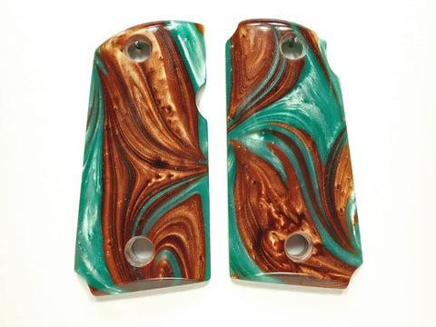 Copper & Turquoise Pearl Kimber Micro 9 Grips