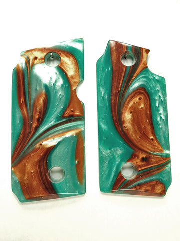 Copper & Turquoise Pearl Sig Sauer P238 Grips