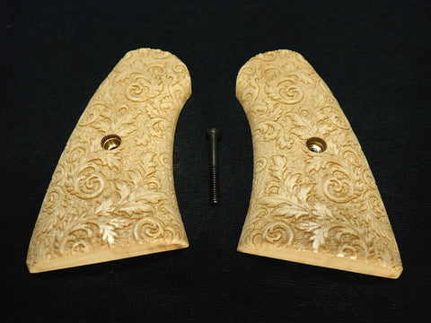 Floral Maple Uberti Schofield Grips Engraved Textured